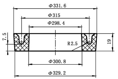 100t平板硫化机用y型密封圈的研制