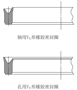 yx形橡胶密封圈的结构示意图